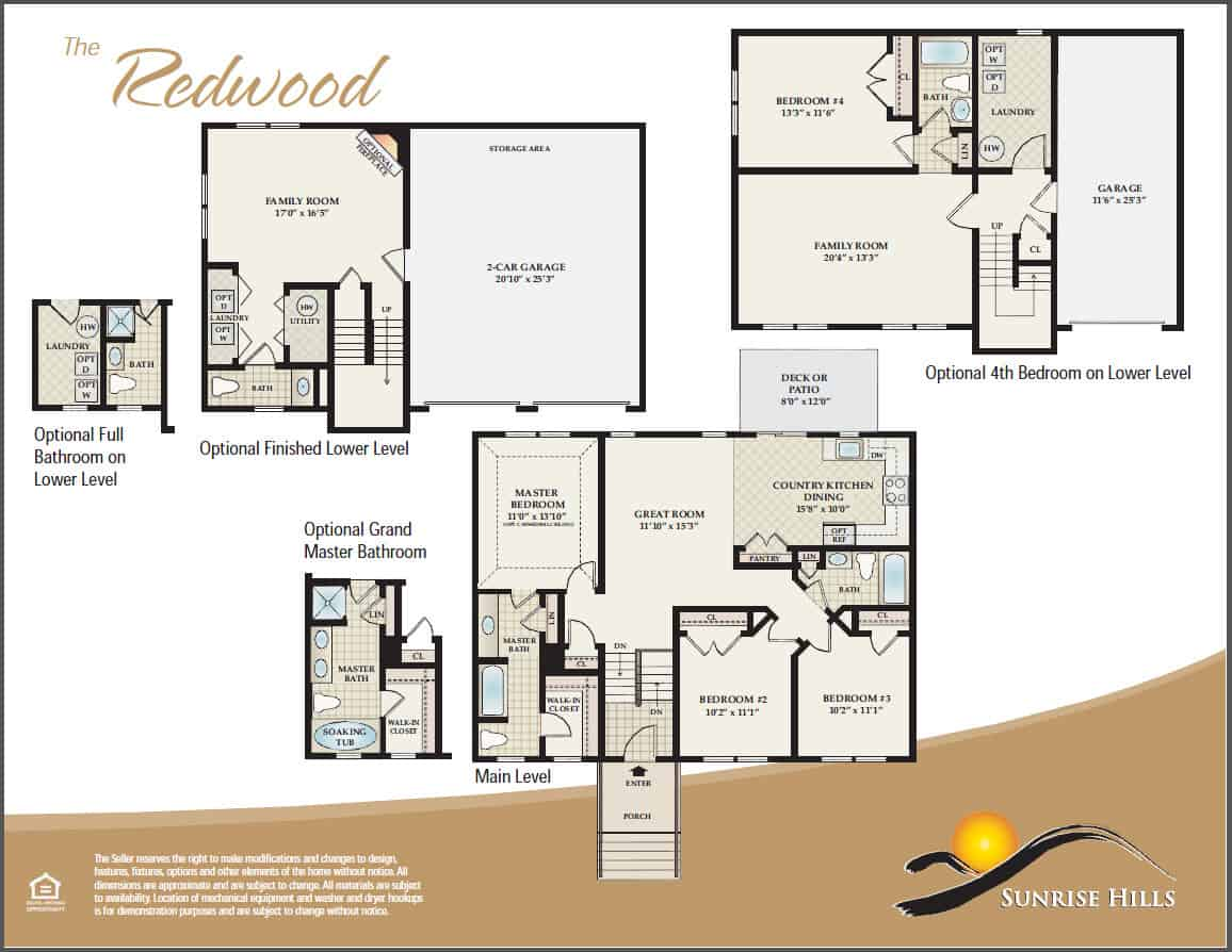 The Redwood Floorplan